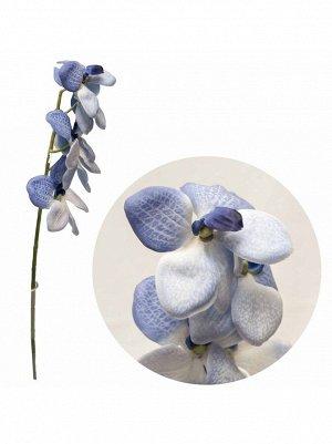 Ванда 56см; цветок искусственный цв.сине-голубой