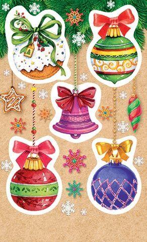 Детские новогодние наклейки