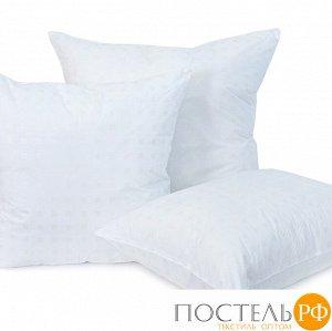 Подушка Лебяжий пух Шашки белый 40/60