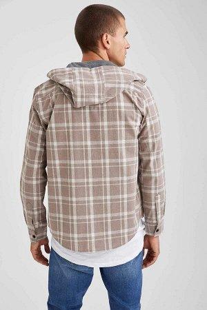 рубашка Размеры модели: рост: 1,85 грудь: 98 талия: 80 Надет размер: M  Хлопок 50%, Полиэстер 45%, Акрил 5%
