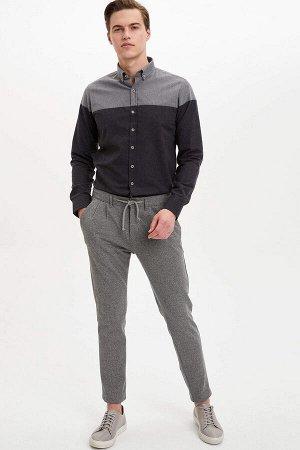 рубашка Размеры модели: рост: 1,89 грудь: 98 талия: 80 бедра: 95 Надет размер: M  Полиэстер 45%, Хлопок 50%,Di?er Elyaf 5%
