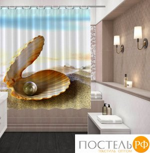 60002 145*180+/-2, шторка д/ванной, Жемчужина