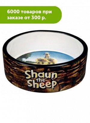 Миска керамика стадо Shaun's коричневая 300мл 12см