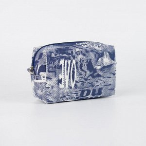 Косметичка дорожная, отдел на молнии, с подкладом, наружный карман, цвет синий