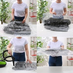 Вакуумный пакет для хранения одежды с крючком 67?90 см