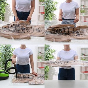 Вакуумный пакет для хранения одежды с крючком 67?110 см