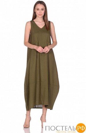Платье женское №229 р-р: one size, цв. оливка