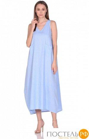 Платье женское №229 р-р: one size, цв. голубой