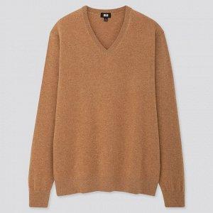 Мужской свитер из кашемира, бежевый