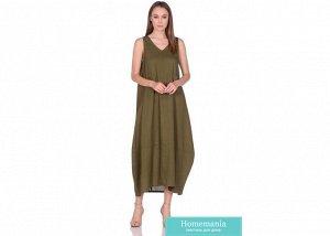 Платье женское №229 р-р one size, цв. оливка