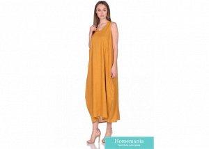 Платье женское №229 р-р one size, цв. горчичный