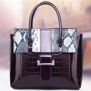 """Сумка 30*26*12 см Самый модный тренд 2020 - сумки с """"хищным"""" принтом. Дизайнеры предлагают нам множество стильных вариаций от лакового """"крокодила"""" до неоновой """"змеи"""". Змеиная сумка так же, как и кроко"""