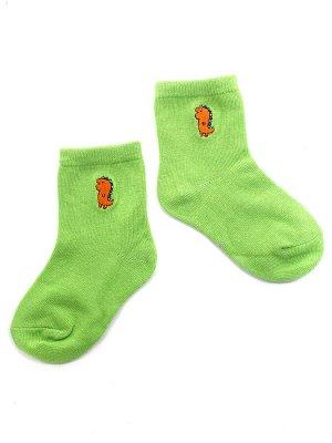"""Детские носки 1-3 года 10-14 см  """"Динозаврики"""" Зеленые"""