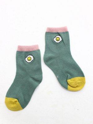 """Детские носки 1-3 года 10-14 см  """"Pastel"""" Яичница"""