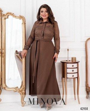 Платье №8628-мокко
