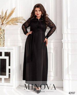 Платье №8628-черный