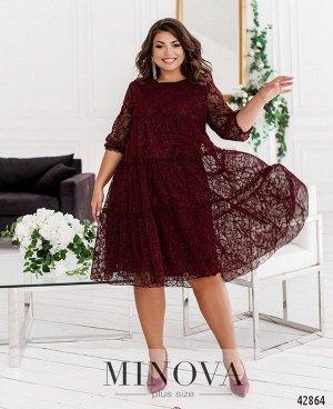 Платье №8620-бордо