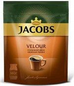 Кофе Якобс Jacobs Велюр Velour кофе растворимый,140 г
