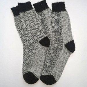 Мужские носки вязаные тонкие