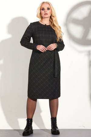 Платье Платье Golden Valley 4595  Состав ткани: Вискоза-15%; ПЭ-82%; Спандекс-3%;  Рост: 164 см.  Платье без воротника, с круглым вырезом горловины, горловина с отрезной планкой. Платье отрезное по л