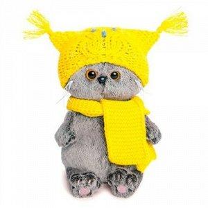 Игрушка мягк. Басик Baby в шапке-сова и шарфе  , 20 см. кор.