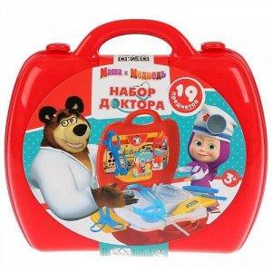 "Набор доктора ""Играем вместе"" Маша и Медведь, 19 пред. в чемодане"