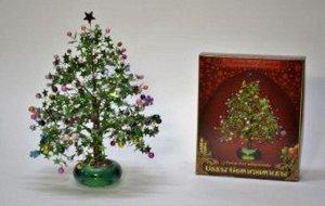 Набор для изготовления Плетение из пайеток и бисера Новогодняя елочка *