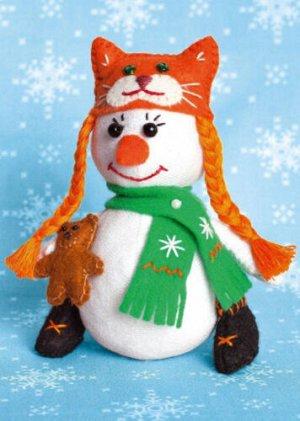"""Набор для изготовления текстильной игрушки """"Снеговичка"""" *"""