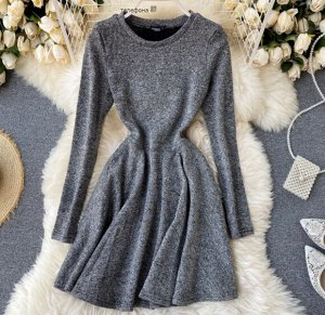Трикотажное платье,серый