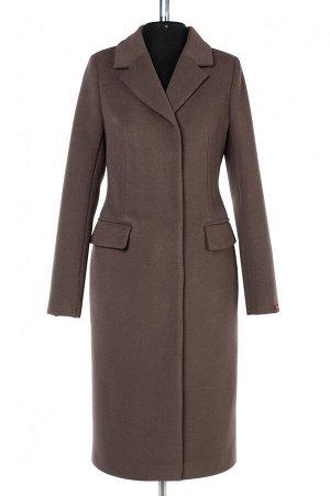 01-10218 Пальто женское демисезонное Пальтовая ткань капучино