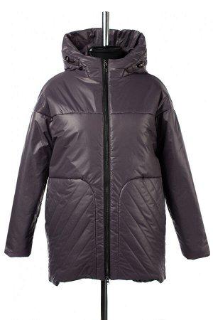 04-2666 Куртка демисезонная (Синтепон 200) Плащевка Серо-фиолетовый