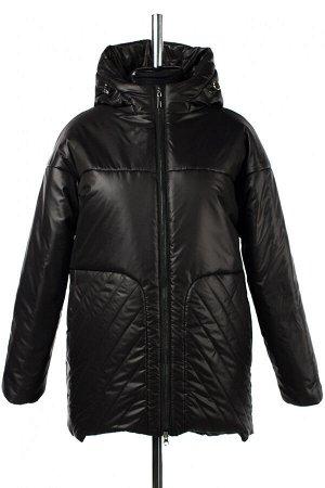 04-2665 Куртка демисезонная (Синтепон 200) Плащевка черный
