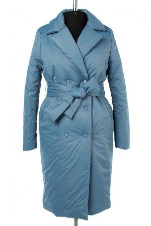 04-2662 Куртка демисезонная (синтепон 200) (пояс) Плащевка голубой