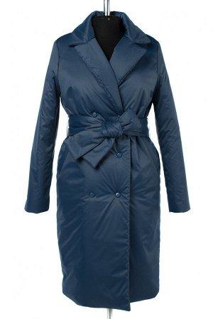 04-2661 Куртка демисезонная (синтепон 200) (пояс) Плащевка морская волна