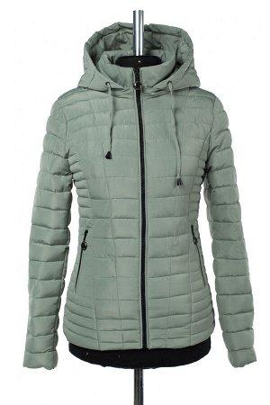 04-2659 Куртка демисезонная (синтепон 200) Плащевка серо-зеленый