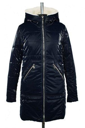 05-1894 Куртка женская зимняя (синтепон 300) Плащевка темно-синий