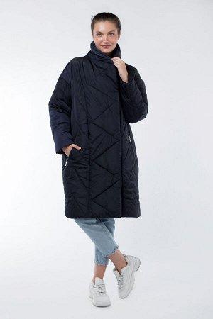 05-1890 Куртка женская зимняя (альполюкс 250) Плащевка темно-синий