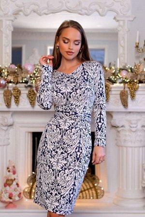Платье Размер: 42 Платье приталенного силуэта, выполненное из жаккарда и украшенное абстрактным узором Модель безупречно подойдет для вечернего мероприятия.Поверхность рельефная, приятная на ощупь Мод