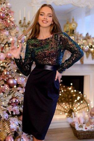 Платье Пайетки - на пике популярности. Утонченные женственные наряды завораживают свои блеском и красотой! Линия талии эффектно подчеркнута втачным поясом за счет которого сама талия кажется тоньше,