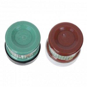 Патина финишная, набор: краска акриловая 2 цвета х 50 мл, №1 ржавчина, зелёная