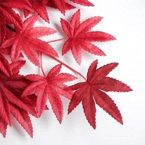 Декор «Листья на ветке» цвет бордовый