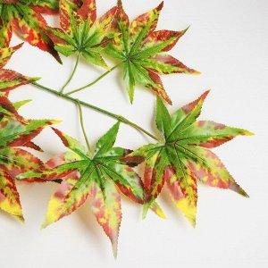 Декор «Листья на ветке» цвет жёлто-коричнево-зелёный