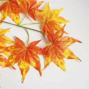 Декор «Листья на ветке» цвет жёлто-коричневый