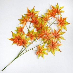 Декор «Листья на ветке» цвет зелёно-жёлто-коричневый