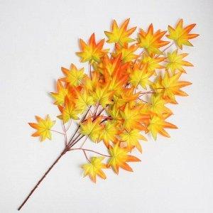 Декор «Листья на ветке» цвет зелёно-жёлто-оранжевый