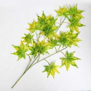Декор «Листья на ветке» цвет зелёно-жёлтый