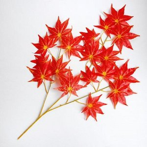 Декор «Листья на ветке» цвет красный