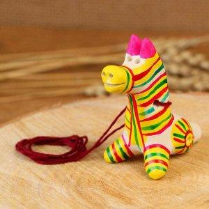 Филимоновская игрушка - свисток «Лошадь»