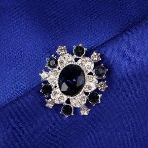 Пуговица декоративная, 22 ? 20 мм, цвет синий