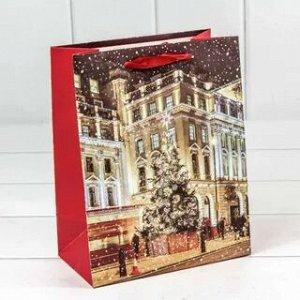 Пакет подарочный Город микс